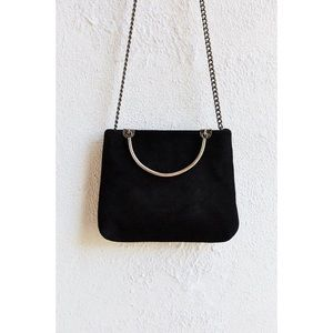 Urban Outfitters Black Leather Blair's Mini Bag